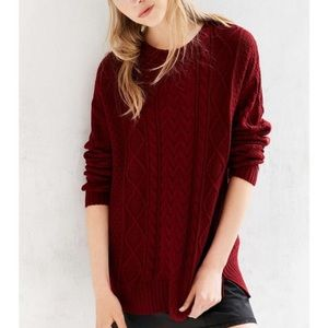 Urban Outfitters BDG Cable Knit Sweater S EUC